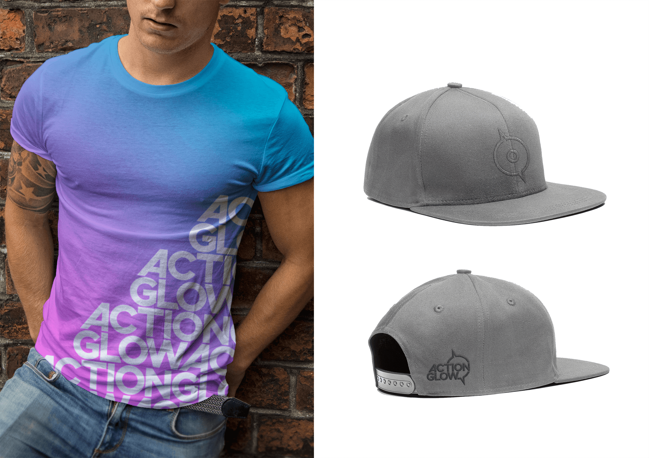 ActionGlow shirt and hat