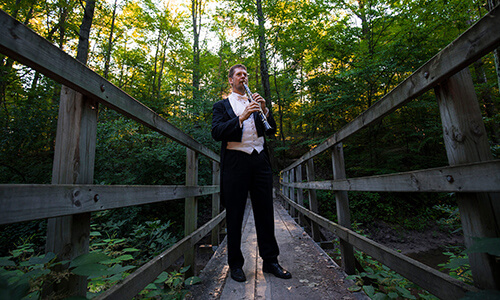 clarinetist in midland's city forest