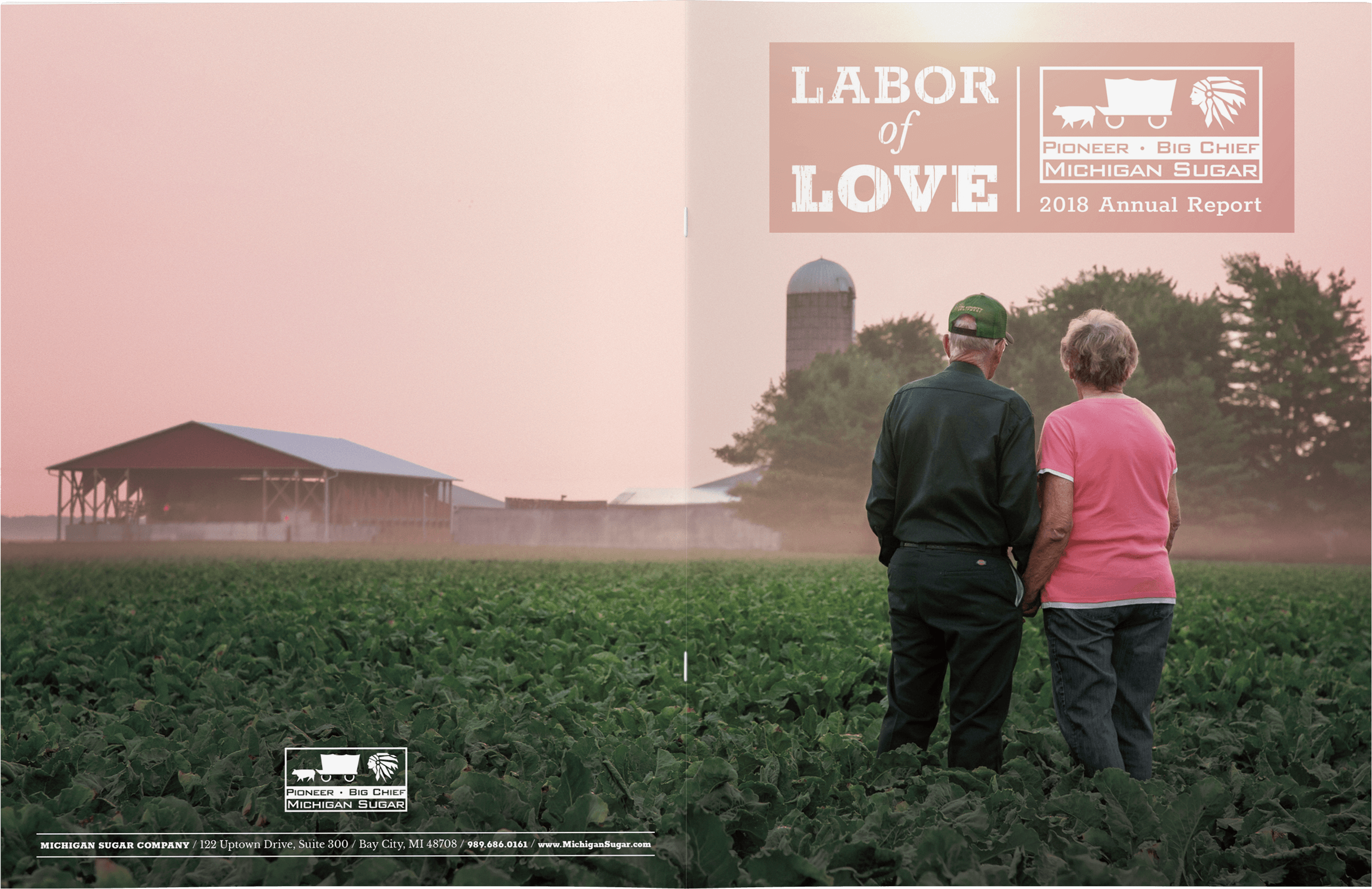 michigan sugar 2018 annual report cover spread