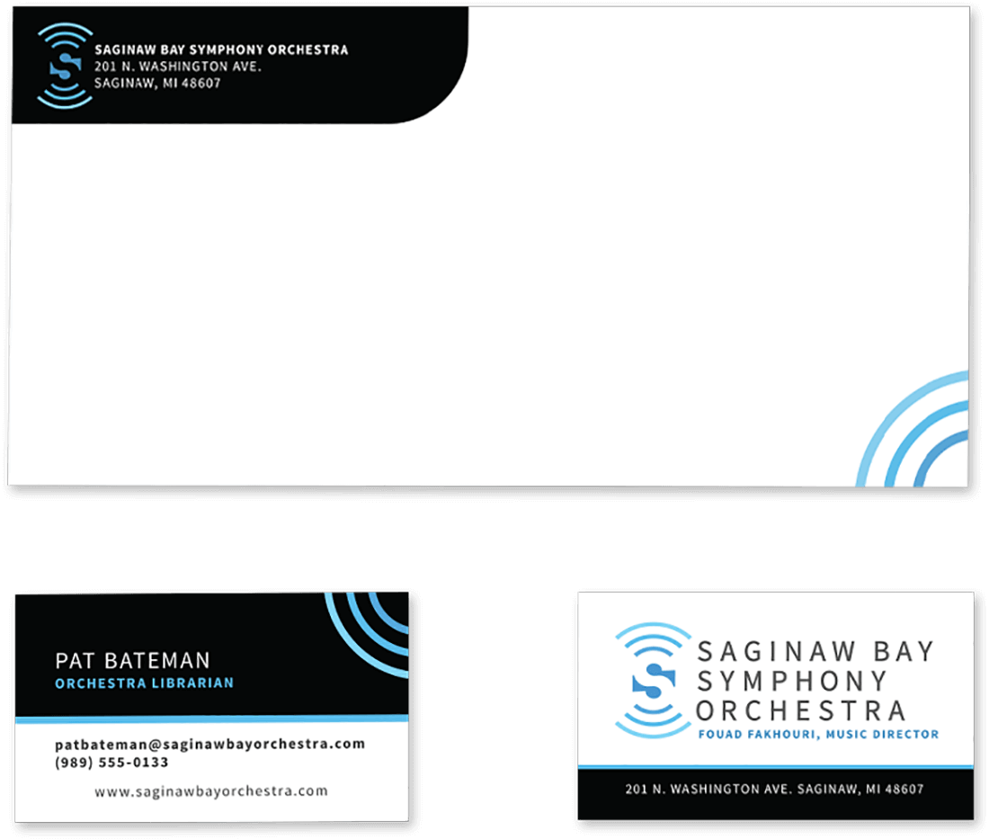 SBSO envelope and business card