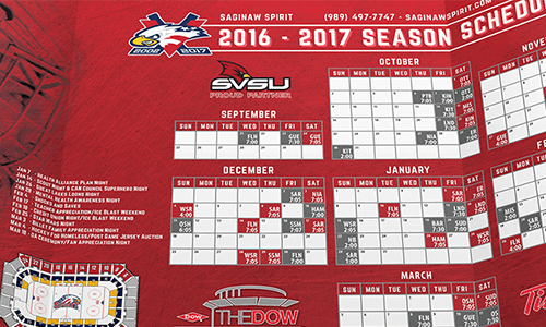 saginaw spirit pocket schedule